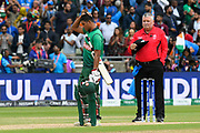 India win - Wicket - Mohammad Saifuddin of Bangladesh looks dejected after the final wicket fell knocking Bangladesh out of the World Cup during the ICC Cricket World Cup 2019 match between Bangladesh and India at Edgbaston, Birmingham, United Kingdom on 2 July 2019.