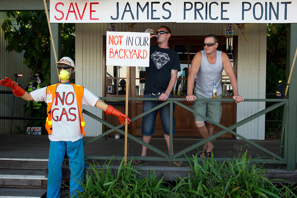 No LNG at James Price protest at the Shinju Matsuri Festival, Broome, Western Australia - Photograph by David Dare Parker °SOUTH