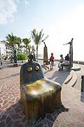 ?La Rotunda del Mar? (?The Rotunda of the Sea?) by Alejandro Colunga, 1997, The Malecon, Puerto Vallarta, Jalisco, Mexico