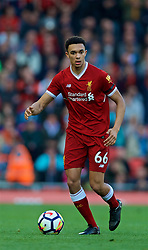 LIVERPOOL, ENGLAND - Saturday, April 14, 2018: Liverpool's Trent Alexander-Arnold during the FA Premier League match between Liverpool FC and AFC Bournemouth at Anfield. (Pic by Laura Malkin/Propaganda)