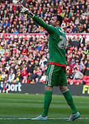Fulham Goalkeeper Andy Lonergan during the Sky Bet Championship match between Middlesbrough and Fulham at the Riverside Stadium, Middlesbrough, England on 17 October 2015. Photo by George Ledger.