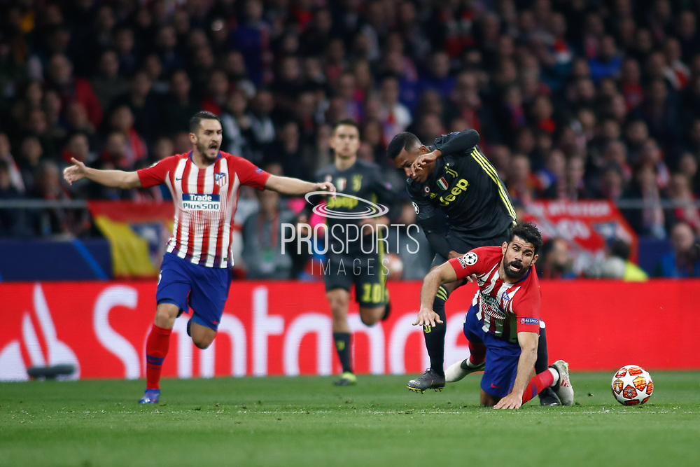 Leonardo Bonucci of Juventus and Diego Costa of Atletico de Madrid during the UEFA Champions League, round of 16, 1st leg football match between Atletico de Madrid and Juventus on February 20, 2019 at Wanda metropolitano stadium in Madrid, Spain - Photo Oscar J Barroso / Spain ProSportsImages / DPPI / ProSportsImages / DPPI