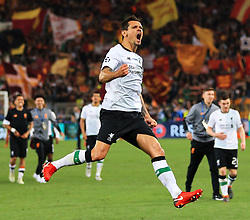 Dejan Lovren of Liverpool celebrates at full time - Mandatory by-line: Matt McNulty/JMP - 02/05/2018 - FOOTBALL - Stadio Olimpico - Rome,  - Roma v Liverpool - UEFA Champions League Semi Final, 2nd Leg
