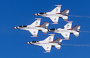 Thunderbirds in four-man diamond formation