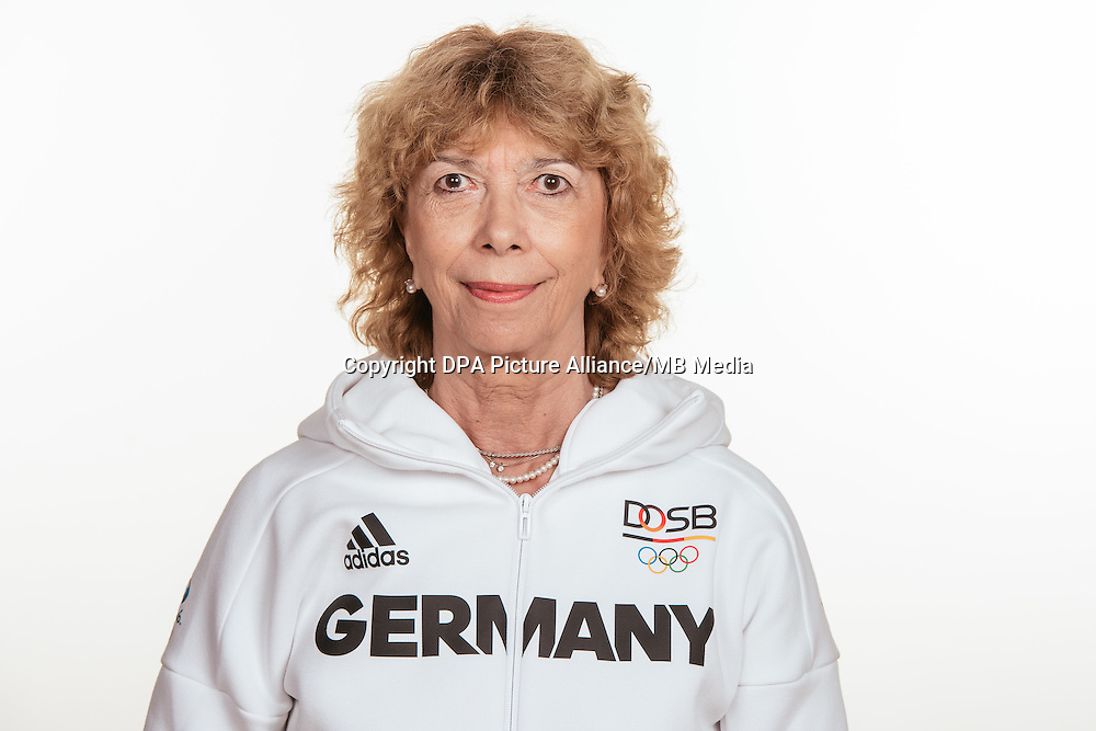 Prof. Dr. Gurdrun Doll- Tepper poses at a photocall during the preparations for the Olympic Games in Rio at the Emmich Cambrai Barracks in Hanover, Germany, taken on 12/07/16   usage worldwide