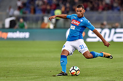 October 14, 2017 - Rome, Italy - Faouzi Ghoulam of Napoli during the Serie A match between Roma and Napoli at Olympic Stadium, Roma, Italy on 14 October 2017. (Credit Image: © Giuseppe Maffia/NurPhoto via ZUMA Press)