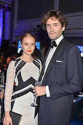 LORD LOVAT and PETRA PALUMBO at the Sugarplum Dinner in aid Sugarplum Children a charity supporting children with type 1 diabetes and raising funds for JDRF, the world's leading type 1 diabetes research charity held at One Marylebone, London on 18th November 2015.