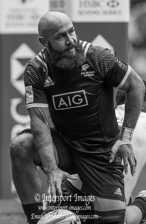 "Twickenham, Surrey United Kingdom.  New Zealander, D.J.FORBES, after touching down in the pool C Game. New Zealand vs Fiji, at the ""2017 HSBC London Rugby Sevens"",  Saturday 20/05/2017 RFU. Twickenham Stadium, England    <br /> <br /> [Mandatory Credit Peter SPURRIER/Intersport Images]"