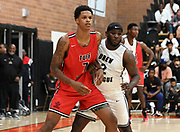 Tuff Crowd forward Shareef O'Neal (7) defends during a Drew League basketball game, Saturday, June 15, 2019, in Los Angeles.  (Dylan Stewart/Image of Sport)