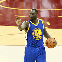 10 June 2016: Golden State Warriors forward Draymond Green (23) brings the ball up court during the Golden State Warriors 108-97 victory over the Cleveland Cavaliers, during Game Four of the 2016 NBA Finals at the Quicken Loans Arena, Cleveland, Ohio, USA.
