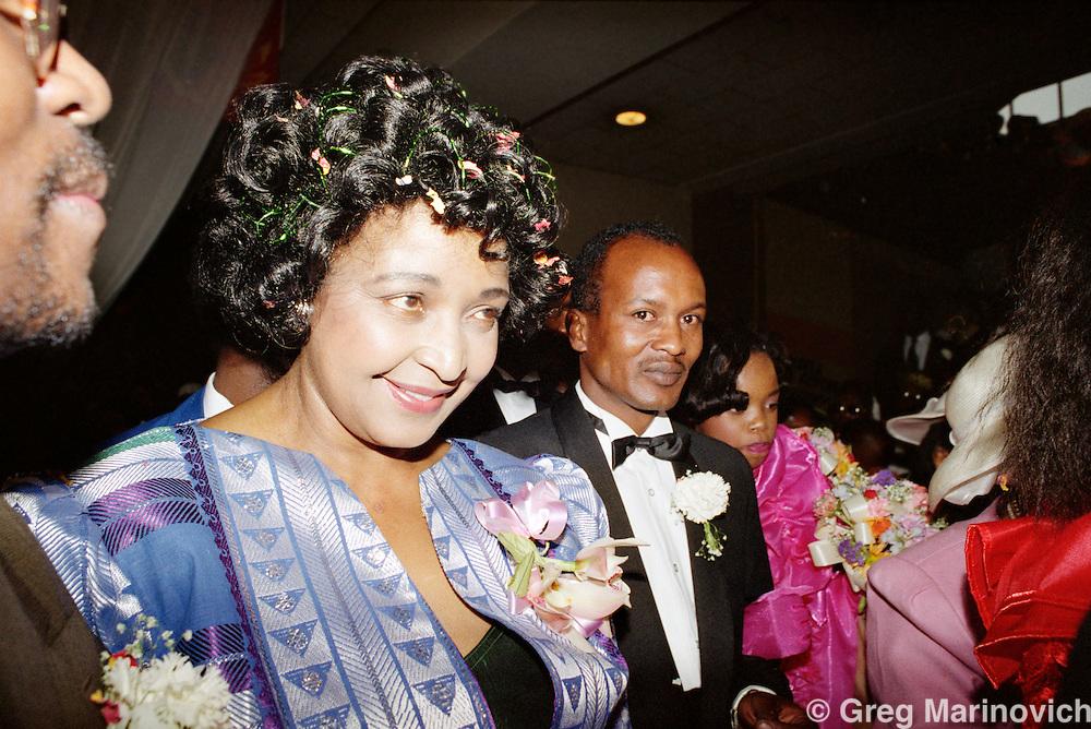 Johannesburg, South Africa, 1992. Winnie Mandela at her daughter Zinzi Mandela's wedding 24/5 October 1992