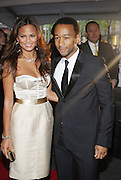 l to r: Chrissy Teigen and John Legend at The Time !00 celebration of The 100 Most Influential People in the World held at The Timer Warner Center in New York City  on Mayy 5, 2009