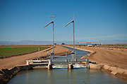 Solar powered irrigation locks in the Imperial Valley Niland, CA.