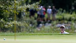 September 2, 2018 - Norton, Massachusetts, United States - Russell Knox hits out of a bunker on the 8th green during the third round of the Dell Technologies Championship. (Credit Image: © Debby Wong/ZUMA Wire)