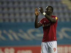 Famara Diedhiou of Bristol City applauds the fans at the final whistle - Mandatory by-line: Jack Phillips/JMP - 11/01/2020 - FOOTBALL - DW Stadium - Wigan, England - Wigan Athletic v Bristol City - English Football League Championship