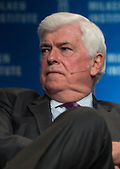 Christopher Dodd, Chairman and CEO, Motion Picture Association of America; Former U.S. Senator, in a panel during the Milken Institute Global Conference on Monday, April 28, 2014 in Beverly Hills, California. (Photo by Ringo Chiu/PHOTOFORMULA.com)