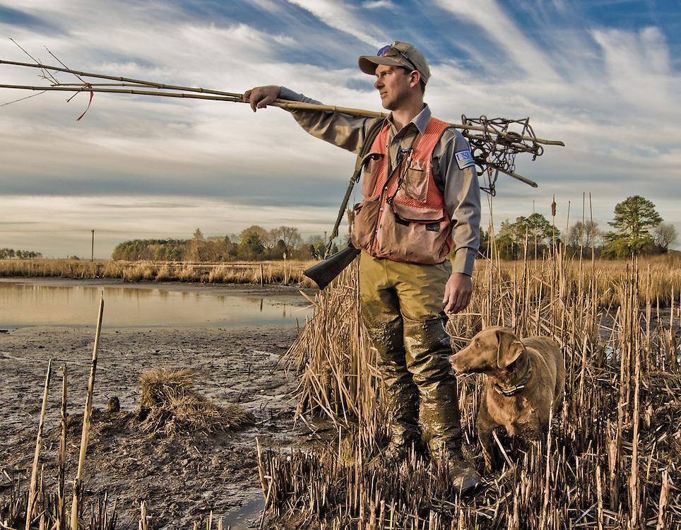 Mario Eusi - Wildlife specialist USDA/  Trapping Nutria Blackwater National Wildlife Refuge