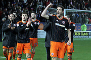 Sheffield United midfielder Chris Basham (6) celebrates his sides late win after the EFL Sky Bet League 1 match between Peterborough United and Sheffield Utd at London Road, Peterborough, England on 11 February 2017. Photo by Nigel Cole.