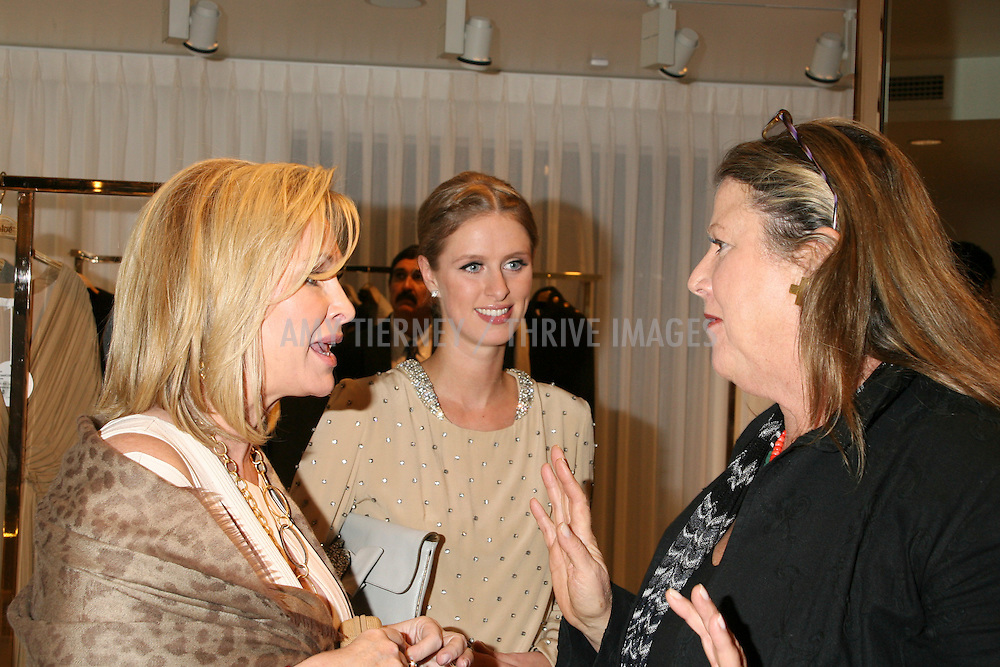 Kathy Hilton, Nicky Hilton, and contributing editor of Vanity Fair Wendy Stark Morrissey