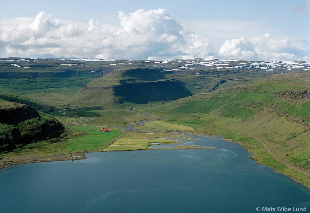 Botn , Mjóifjörður, séð til suðurs, Súðavíkurhreppur áður Reykjarfjarðarhreppur / Botn in mjoifjordur viewing south, Sudavikurhreppur former Reykjarfjardarhreppur.