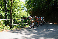 Lizzie Armitstead sets the pace through the wooded climb at Giro Rosa 2016 - Stage 6. A 118.6 km road race from Andora to Alassio, Italy on July 7th 2016.