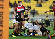 Lions Kemara Hauiti-Parapara during the Mitre 10 Cup rugby match between the Wellington Lions & Canterbury at Westpac Stadium, Wellington. Friday 23rd August 2019. Copyright Photo: Grant Down / www.Photosport.nz