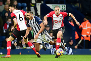West Bromwich Albion striker Saloman Rondon (9) draws a foul from s14` during the Premier League match between West Bromwich Albion and Southampton at The Hawthorns, West Bromwich, England on 3 February 2018. Picture by Dennis Goodwin.