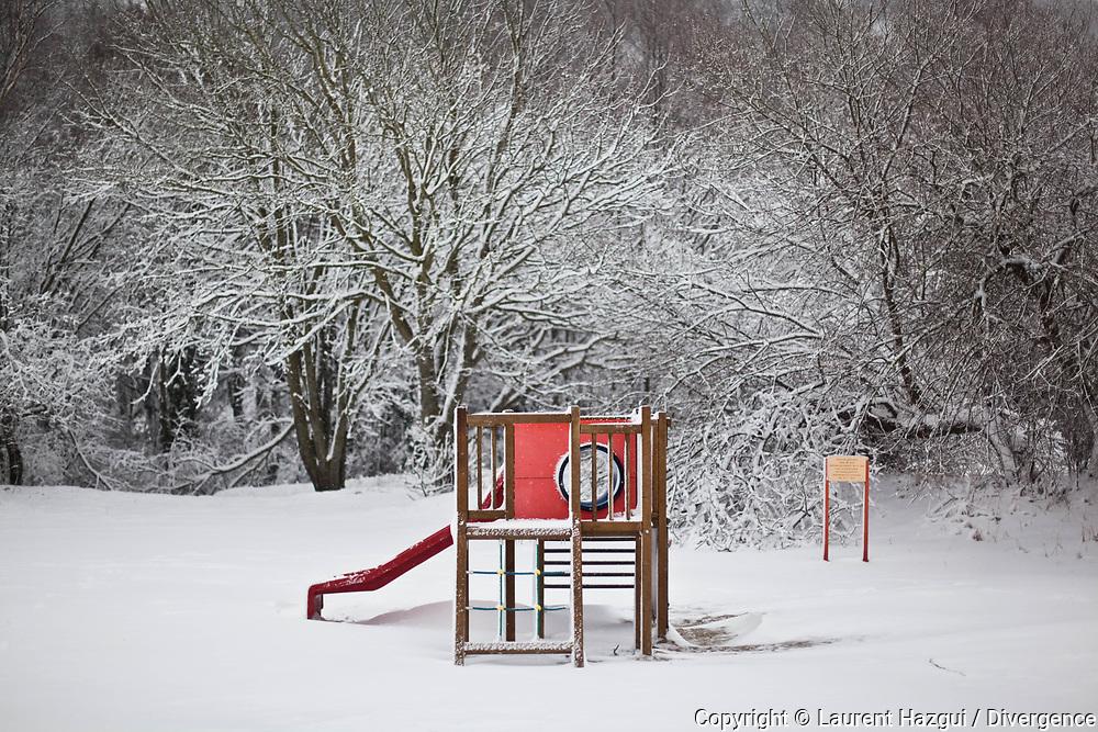 Mars 2013. Honfleur (Calvados). Sous la neige.