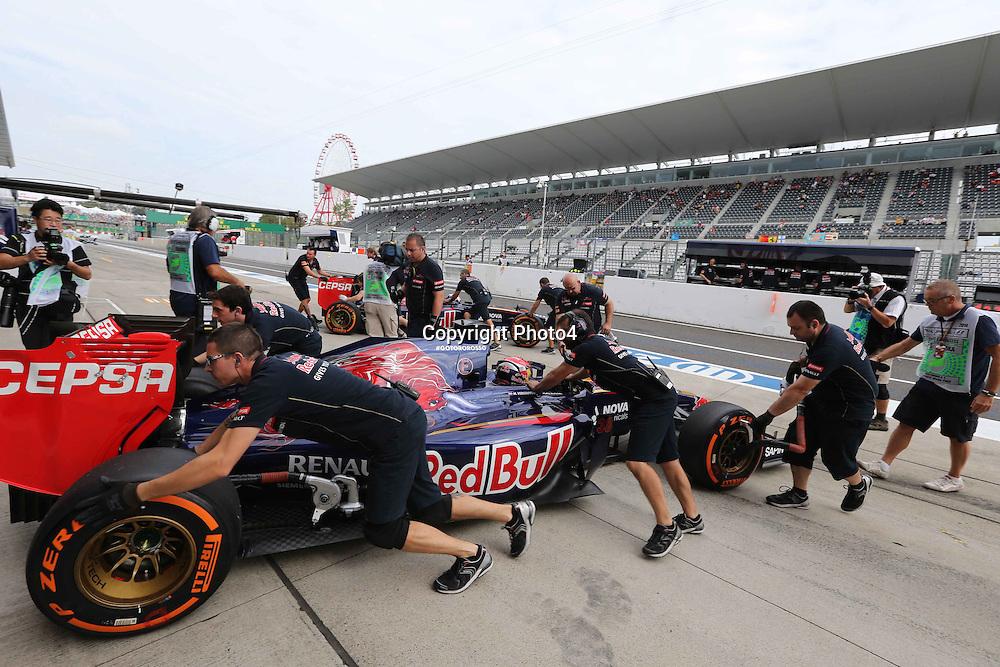 &copy; Photo4 / LaPresse<br /> 03/10/2014<br /> Sport <br /> Grand Prix Formula One Japan 2014<br /> In the pic: Max Verstappen (NED) Scuderia Toro Rosso STR9