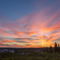 Beautiful sunset on the Dolly Sods Wilderness and Bear Rocks Cliff Overlook area. Near Canaan Valley National Wildlife Area, Davis, West Virginia
