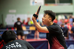 YAN Shuo and LIAO Keli (CHN) during Team events at Day 4 of 16th Slovenia Open - Thermana Lasko 2019 Table Tennis for the Disabled, on May 11, 2019, in Dvorana Tri Lilije, Lasko, Slovenia. Photo by Vid Ponikvar / Sportida