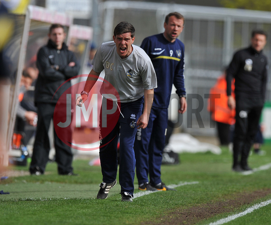 Bristol Rovers Manager, Darrell Clarke  - Photo mandatory by-line: Alex James/JMP - Mobile: 07966 386802 12/04/2014 - SPORT - FOOTBALL - Bristol - Memorial Stadium - Bristol Rovers v Torquay United - Sky Bet League Two