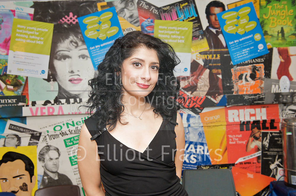 Sex Appeal - <br /> &quot;More sex please we're British!&quot; <br /> a Comedy fundraising event in aid of Brook at the Bloomsbury Theatre, London, Great Britain <br /> 13th January 2012<br /> <br /> Shappi Khorsandi<br /> <br /> Photograph by Elliott Franks