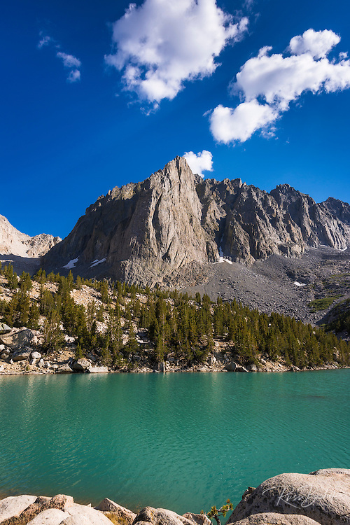 Temple Crag above Big Pine Lake #3, John Muir Wilderness, Sierra Nevada Mountains, California USA