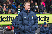 Coventry City manager Mark Robins  during the EFL Sky Bet League 2 match between Forest Green Rovers and Coventry City at the New Lawn, Forest Green, United Kingdom on 3 February 2018. Picture by Shane Healey.