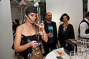 ANNE LOOK;MARC QUINN; BIANCA JAGGER, Harper's Bazaar Women Of the Year Awards 2011. Claridges. Brook St. London. 8 November 2011. <br /> <br />  , -DO NOT ARCHIVE-© Copyright Photograph by Dafydd Jones. 248 Clapham Rd. London SW9 0PZ. Tel 0207 820 0771. www.dafjones.com.