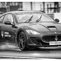 Silverstone Official Safety Car - Maserati Gran Turismo Sport. 24.07.2015. Silverstone, England, U.K.  Silverstone Classic 2015.