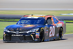 September 14, 2018 - Las Vegas, NV, U.S. - LAS VEGAS, NV - SEPTEMBER 14: Christopher Bell (20) Joe Gibbs Racing (JGR) Toyota Camry during practice for the DC Solar 300 NASCAR Xfinity Series Playoff Race on September 14, 2018, at Las Vegas Motor Speedway in Las Vegas, NV. (Photo by David Griffin/Icon Sportswire) (Credit Image: © David Griffin/Icon SMI via ZUMA Press)