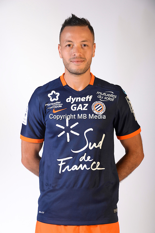 Jamel Saihi during the photocall of Montpellier for new season of Ligue 1 on September 27th 2016 in Montpellier<br /> Photo : Mhsc / Icon Sport