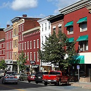 Main Street, Bangor, Maine, USA. Bangor is the 3rd largest city in the state and the retail, cultural and service center for central, eastern and northern Maine, as well as Atlantic Canada.