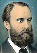 Charles Stewart Parnell (1846-1891) Irish nationalist, political leader and champion of Home Rule. Coloured lithograph, 1881.