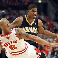 16 April 2011:  during the Chicago Bulls 104-99 victory over the Indiana Pacers, during the game 1 of the Eastern Conference first round at the United Center, Chicago, Illinois, USA.