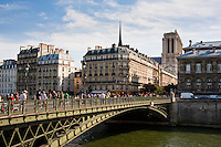 Pont d'Arcole Paris France in Spring time of May 2008