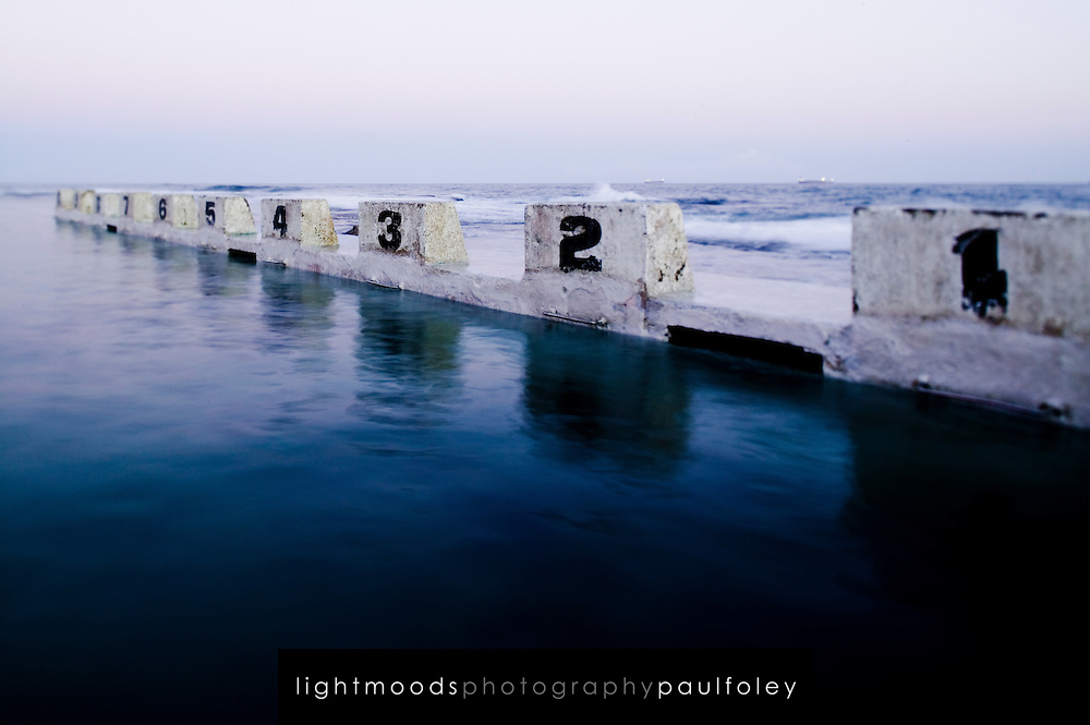 Merewether Ocean Baths, Merewether Beach, Newcastle, Eastern Australia coast. Ocean Baths are a feature of the Australian Coast, constructed to provide safe surf side swimming.
