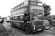 A46 London bus, Solsbury Hill, Somerset, UK, 1994.