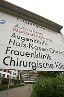 Mannheim. 28.10.14 Klinikum. Notaufnahme in Haus 2 in direktem Anschluss an Haus 1. Die Zentralsterilisation befindet sich in Haus 2 im Untergeschoss.<br /> <br /> Bild: Markus Pro&szlig;witz 28OCT14 / masterpress (Bild ist honorarpflichtig)