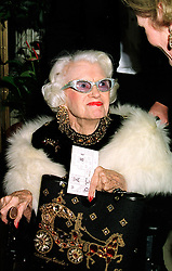 MAUREEN, MARCHIONESS OF DUFFERIN  & AVA, at a party in London on 27th January 1998.MEW 40