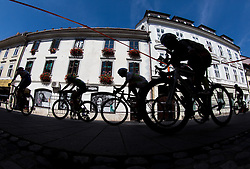 Riders during cycling race On the streets of Kranj 2016, on July 31, 2016 in Kranj centre, Slovenia. Photo by Vid Ponikvar / Sportida