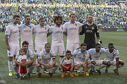 August 27, 2017 - Seattle, Washington, U.S - Soccer 2017: The Seattle Sounders starting eleven as the Portland Timbers visit the Seattle Sounders for an MLS match at Century Link Field in Seattle, WA. (Credit Image: © Jeff Halstead via ZUMA Wire)