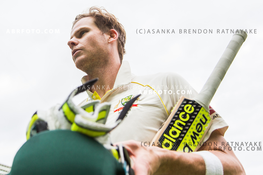Steve Smith walks off at the end of the game as the match played out to a draw during day 5 of the 2017 boxing day test.
